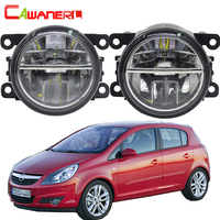 Cawanerl 2 X Car Light 4000LM /Set LED Fog Light Daytime Running Lamp DRL 6000K White 12V For Opel Corsa D Hatchback 2007 2015