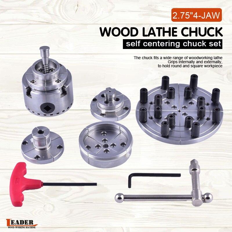 6,98 см деревянный токарный патрон 70 мм Высокое качество 4 количество зажимов 2,75 Деревообработка спиральный патрон деревообрабатывающий ста