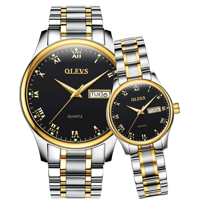 OLEVS mens watches top brand luxury Women's watches relogio masculino feminino clock Stainless Steel waterproof couple watches