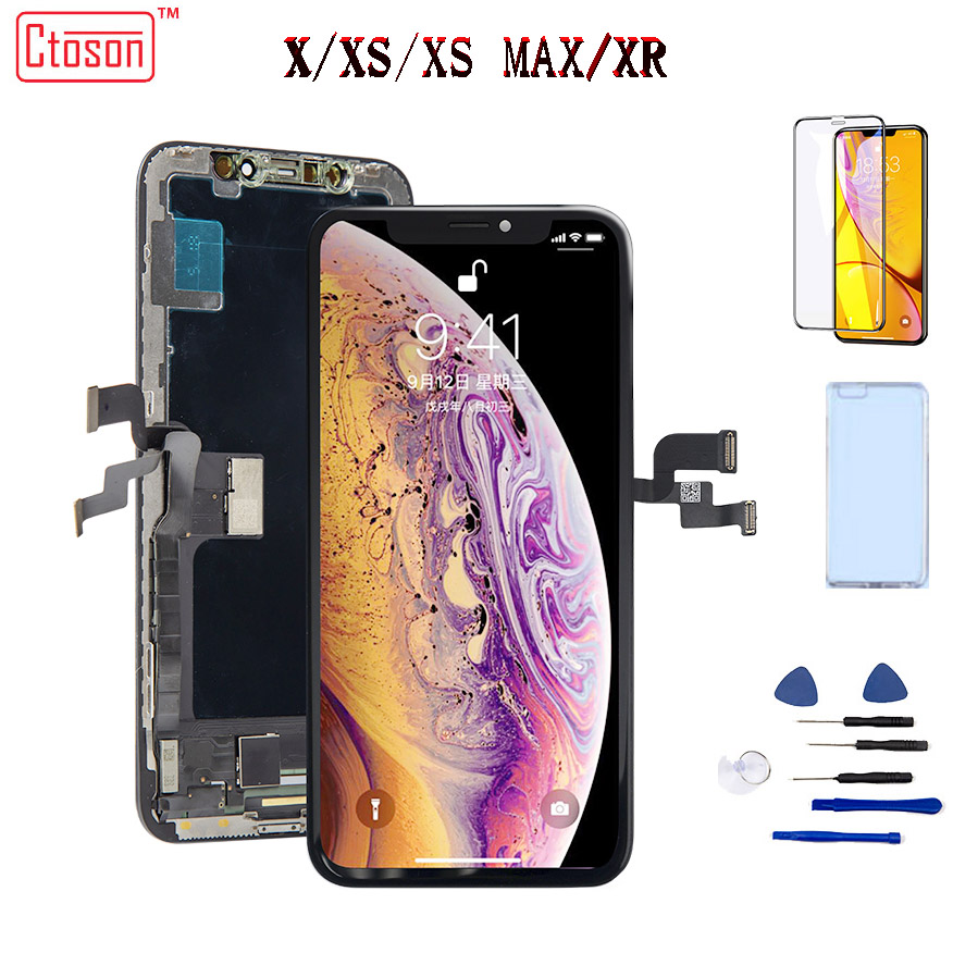 ZY AMOLED  Screen For Iphone XS  X LCD Display Liquid OLED Screen  For  Iphone XS MAX  XR Assembly Parts  Easy To Install