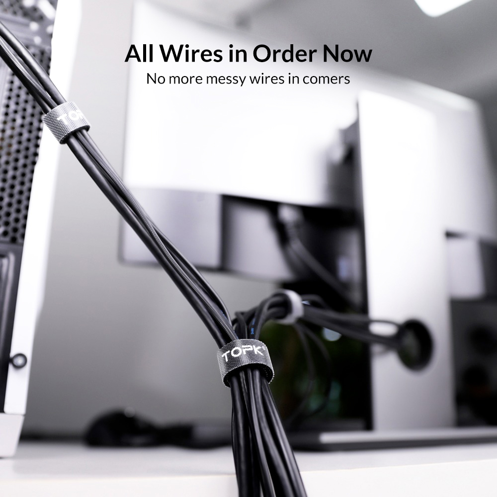 TOPK J01 Cable Organizer Wire Winder Earphone Holder Mouse Cord Protector HDMI Cable Management For iPhone TOPK J01 Cable Organizer Wire Winder Earphone Holder Mouse Cord Protector HDMI Cable Management For iPhone Samsung Xiaomi