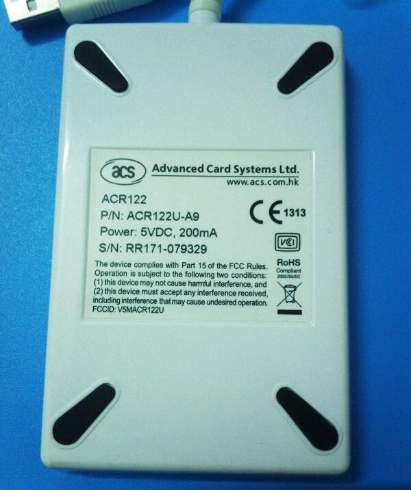 USB ACR 122U NFC kontaktløs smart ic Kortlæser og forfatter - Sikkerhed og beskyttelse - Foto 4