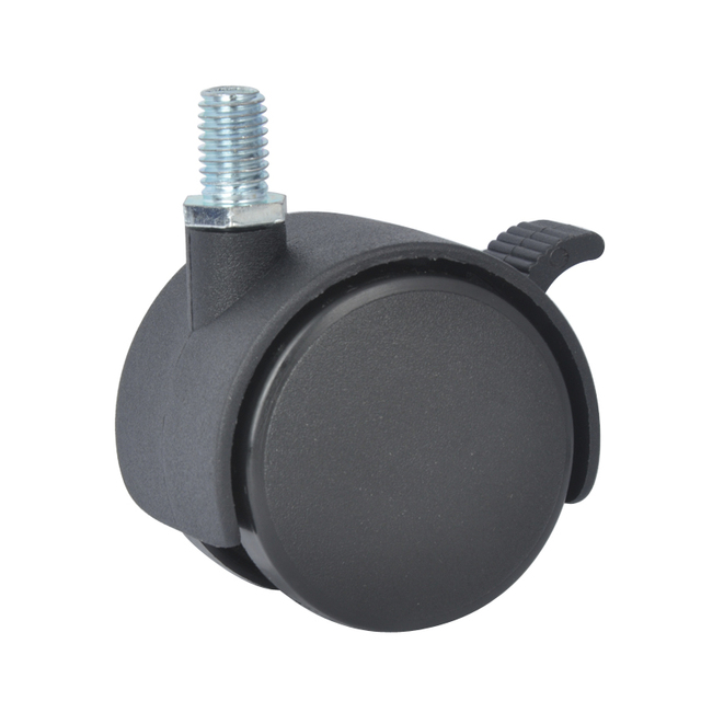 Charmant 4PCS EDL 50mm 25Kg PA Nylon Wheels Castors Thread Screw Brake Locking  Roller Rotation Furniture Casters
