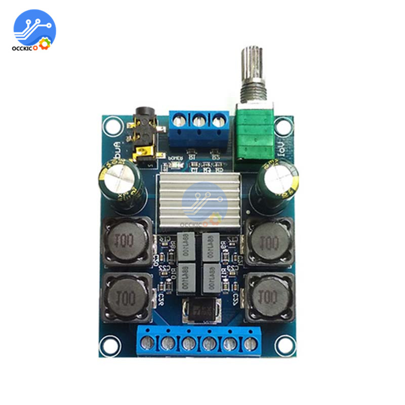 TPA3116D2 Audio Digital Amplifier Board 2X50W DC 4.5-27V Dual Channel Stereo Volume Control Class D Sound Speaker Board HIFI