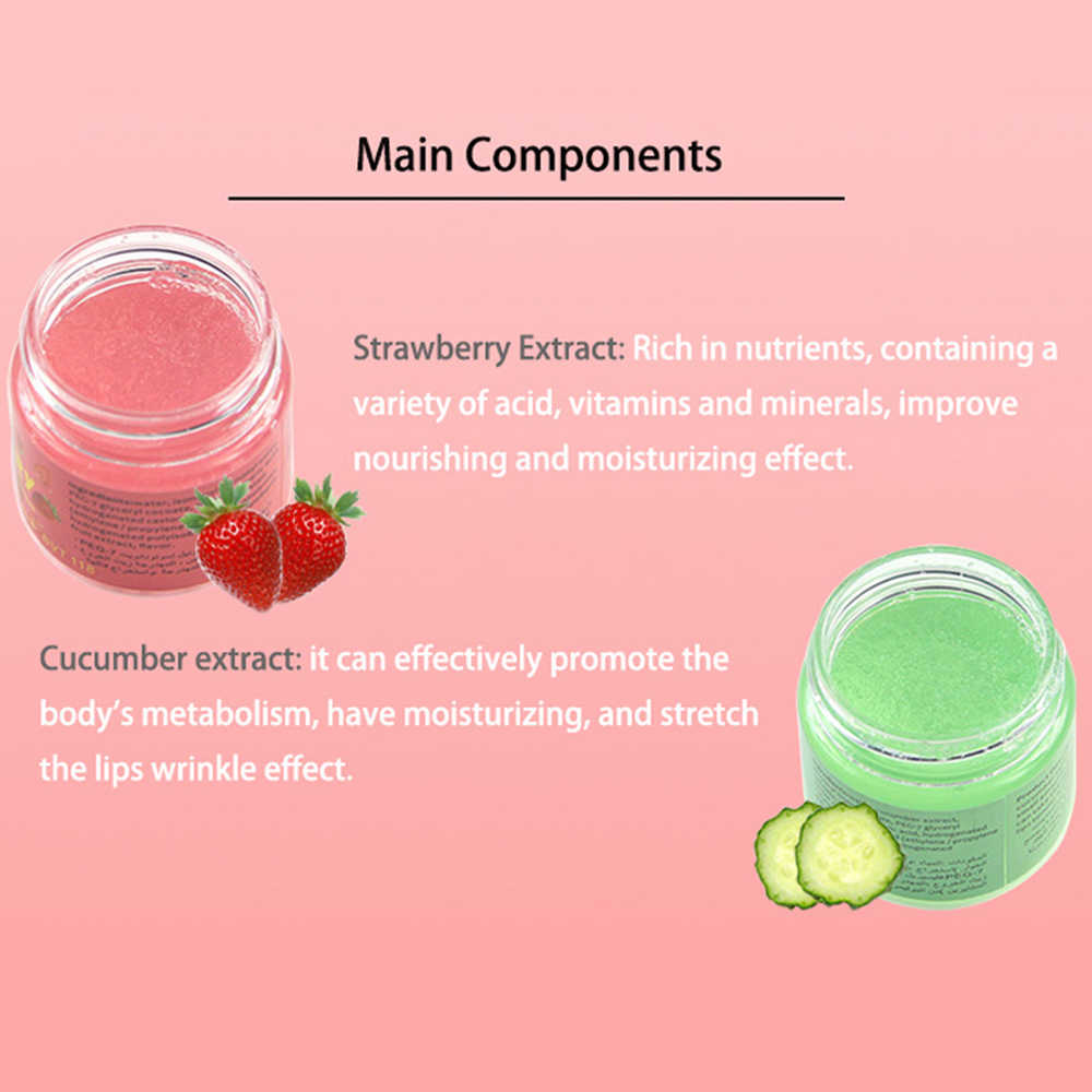 1 pc fruité lèvre gommage crème pour enlever la peau morte exfoliant baume traitement lèvre dodue dispositif pour soin des lèvres traitement TSLM2