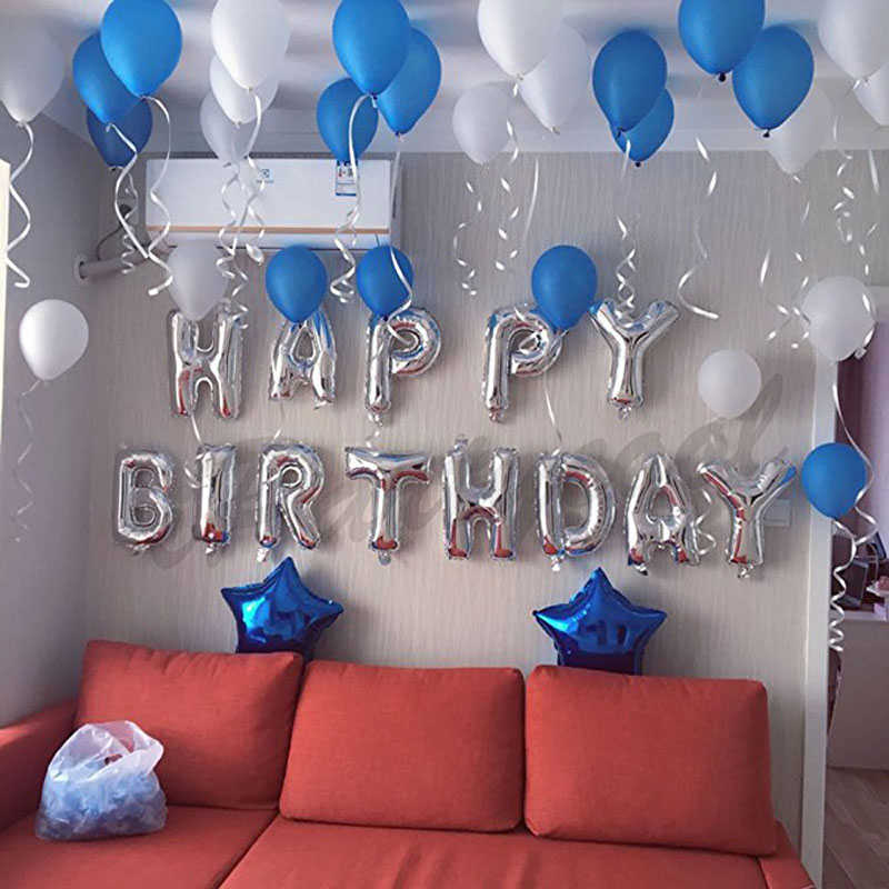Happy Birthday Balloons Banner Adult Kids Boys Girls First 16th 18th 20th 21st 30th 40th 50th 60th Years Baby Shower Party Decor In DIY Decorations