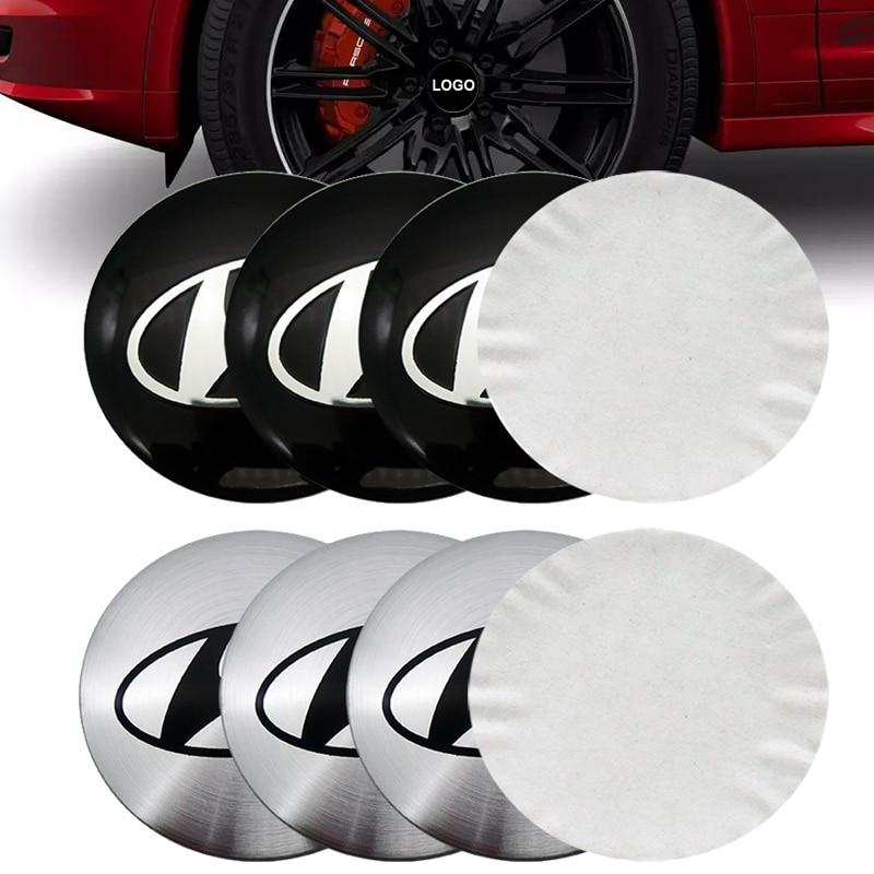 4pcs/lot 56mm Car Rim Cover Decal Wheel Center Hub Cap Sticker For HYUNDAI ix35 ix25 i20 i30 tucson santa fe Car shape