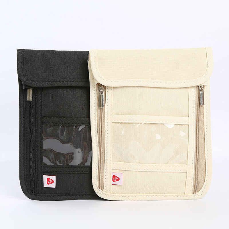 السفر الحقيبة RFID حجب محفظة الرقبة حزام مخفي آمنة حالة الهاتف غطاء قابل للتعديل سلسلة