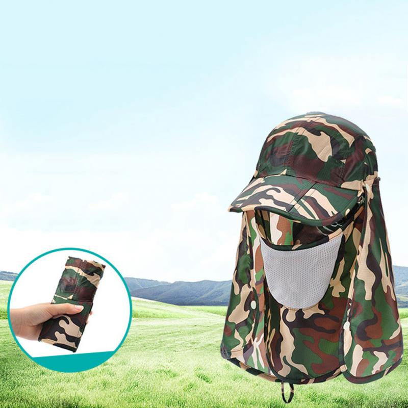 35d38acd99896 Summer Sun Hat Face Men Women Face Cover Neck Ear Flap UV Protection  Breathable Camouflage Sun Hat-in Hats   Caps from Mother   Kids on  Aliexpress.com ...