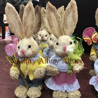 2pcs/lot.Multi-colored Easter gifts, foreign trade forests, straw rabbit ornaments, wedding window ornaments