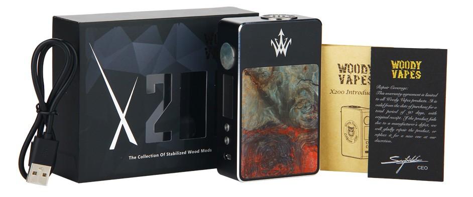 Woody Vapes Stabilized Wood X200 TC Box MOD WO Battery 2