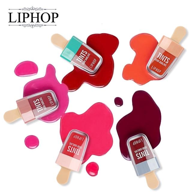 LIPHOP ICE CREAM Long-Lasting Lip Tint 5 Colors Liquid Lipstick Batom Rouge A Levres Labial Matte Lip Gloss Sexy Tattoo Cosmetic 3