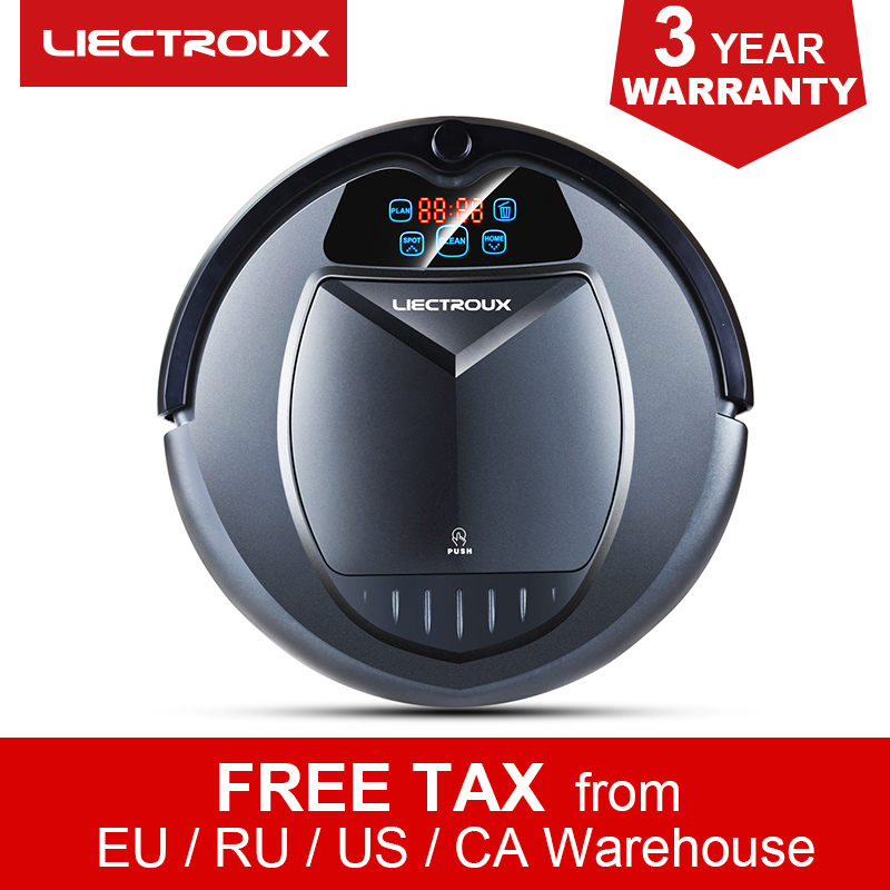 LIECTROUX B3000 Robot Aspirateur Intelligent Balayeuse, Calendrier, Bloqueur Virtuel, Auto-Charge, télécommande,