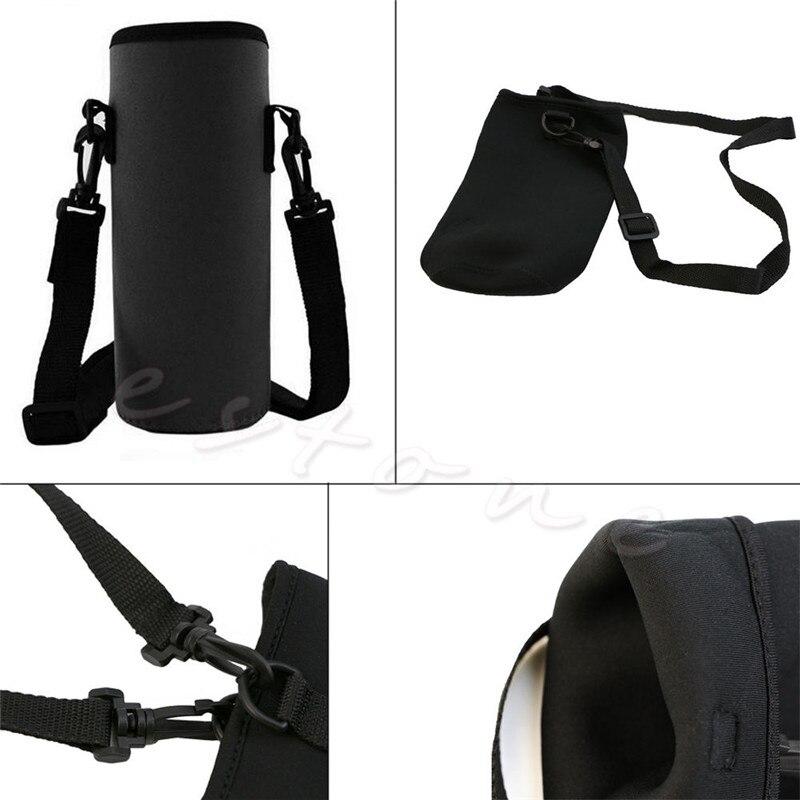 Portable 750ML Neoprene Water Bottle Carrier Insulated Cover Bag Holder Strap Bottle Holder Warmer Cooler Bag For Travel