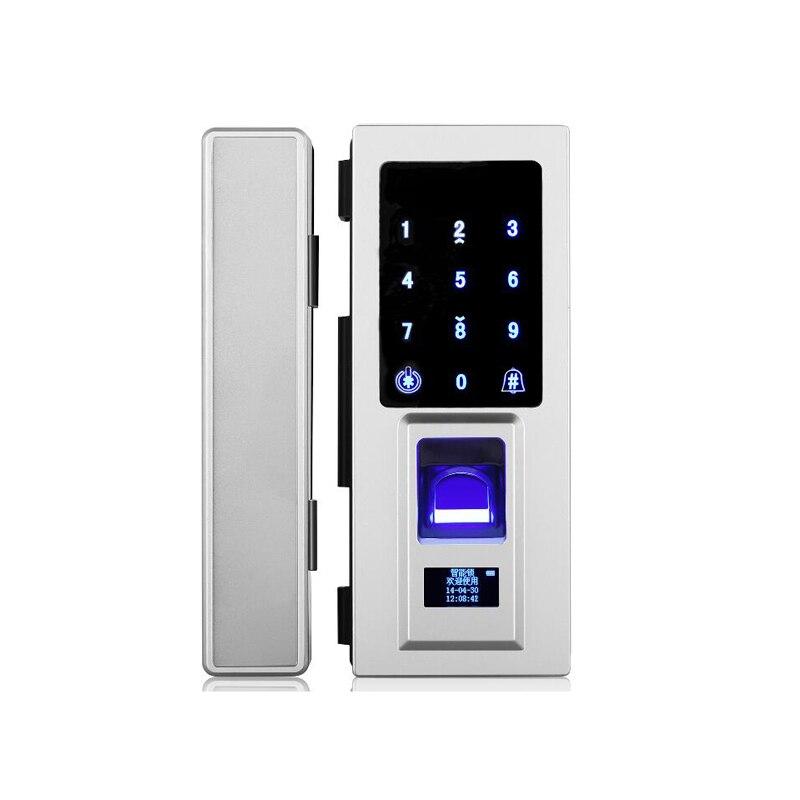 Jcsmarts Office Electronic Door Lock With Finger Print, Password, Card Unlock For Single Glass Door