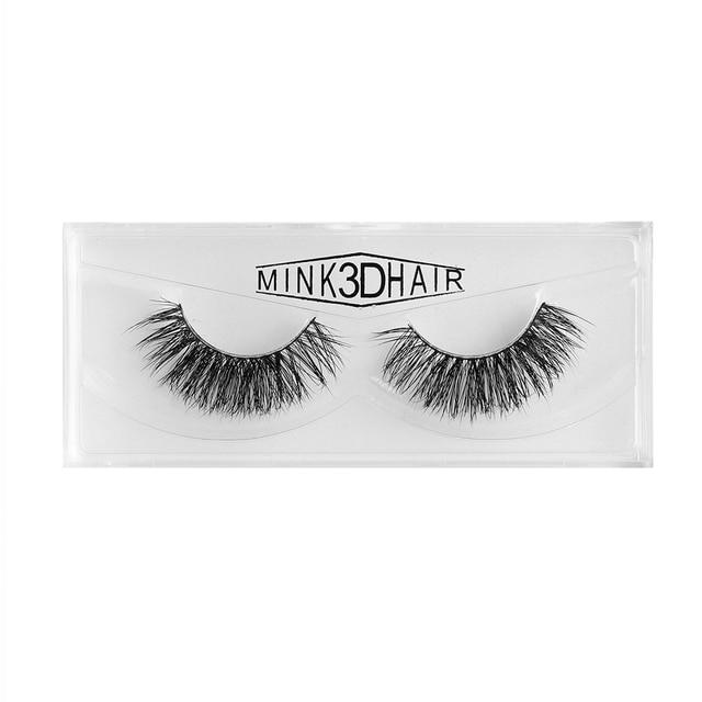 3142e17b0ab 1Pair SD-16 Handmade Reusable Soft Cilia Mink Hair False Eyelashes Soft  Wispy Fluffy Natural
