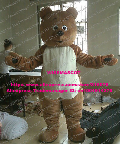 Super Cheerful Brown Teddy Bear Mascot Costume With Protruding Face Schematic Wiring Diagrams Amerangerunnerswayorg