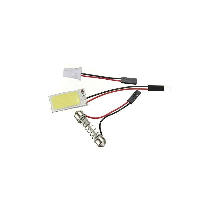 100X Free shipping DOME light interior COB panel 21 chips 5W LED Light Bulb Lamp +T10 FESTOON CONNECTOR White