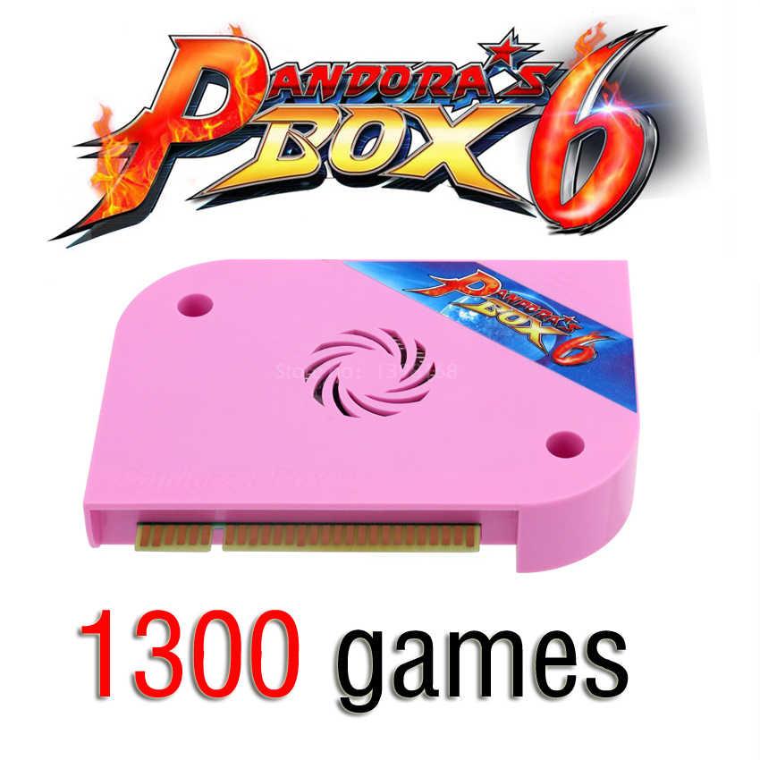 1600 TRONG 1 Pandora Box 6 Arcade Ban 1300 trong 1 Đa bảng hỗ trợ HDMI/VGA/CGA Pandora arcade Máy Tủ Có Thể thêm trò chơi