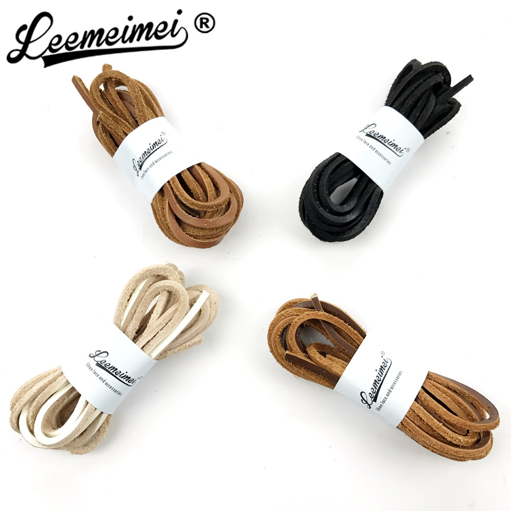 120cm Leather Shoe Laces Colorful Solid Shoelace For Sports Shoes and Boots