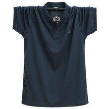 Polo-Shirt Short-Sleeve Green Plus-Size Men Casual 95%Cotton 4XL Fat 5XL 6XL Navy-Blue