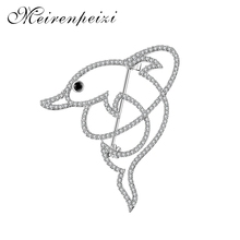 Free shipping gold silver dolphin cute brooch high quality retro pin for women and baby accessories