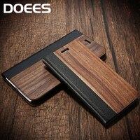 Doeesリアルウッドレザーケースiphone用6 6 s 7 7プラスカバースタンドホル
