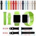 38mm s/m o m/l tamaño de banda de silicona pulsera de caucho pulsera de reloj del deporte de fitness de reemplazo para sólo apple watch/apple smart watch