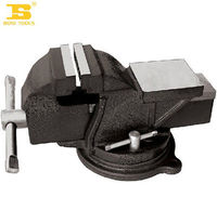 12 HT150 Iron Heavy Duty Vise With Anvil Sprayed Bench Vise Table Vise