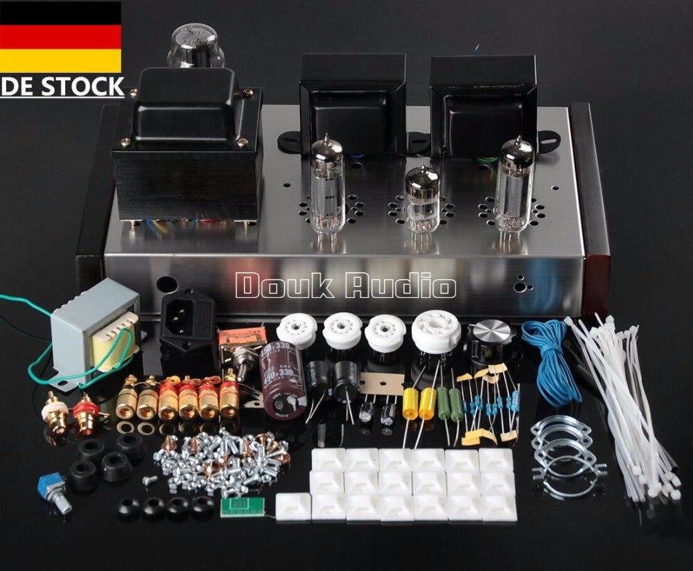 HiFi 6P14 Valve Tube Amplificateur Single-ended Classe A Main Stéréo Puissance Amp DIY KIT Audiophile Pour La Maison Audio