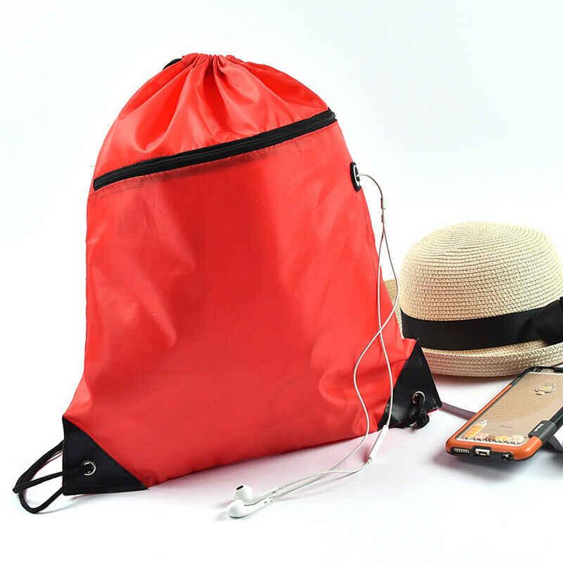 Das mulheres dos homens universal neutro mochila casuais cor sólida corda feixe plecak viagem portátil dobrável mochila