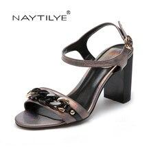 NAYTILYE Summer Sandals Bling Rhinestone Women Sandals High heels Fashion Comfortable Shoes Woman Free shipping