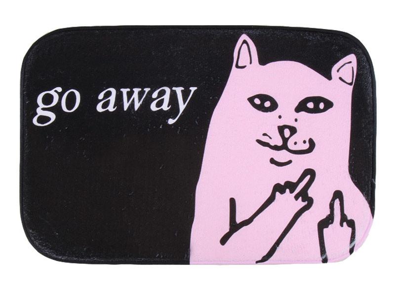 Go Away Printing Carpet Ripndip Cat Mat Suede Non Slip Absorbent Shower Bathroom Mat For Toilet  Rugs Kitchen Floor Mat tapete