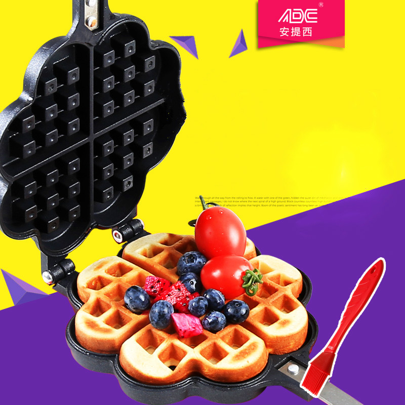 loves Waffle mold Not sticky pot Cake cake mold DIY baking mold Gas stove and electric ceramic stove use diy cake printing mold
