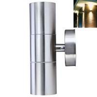 Dikale Stainless Steel Up Down LED Wall Light IP65 GU10 Double Outdoor Wall Lights Double Wall Lamps Outdoor Wall Lighting