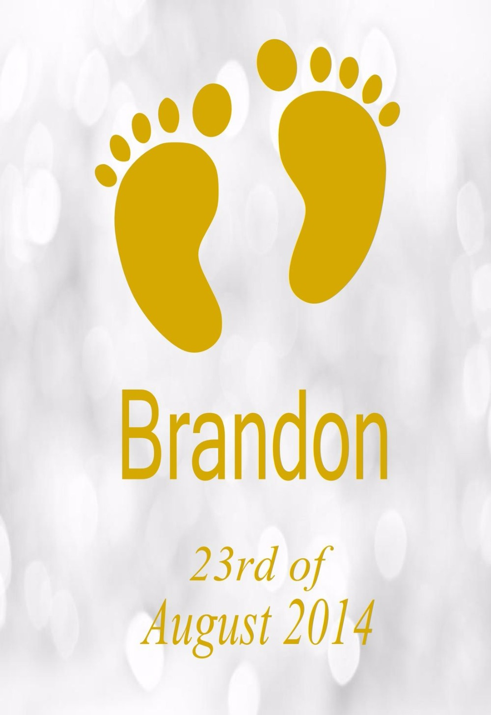Personalised Names & Babies Birth Date Feet Wall Sticker Any Name ...