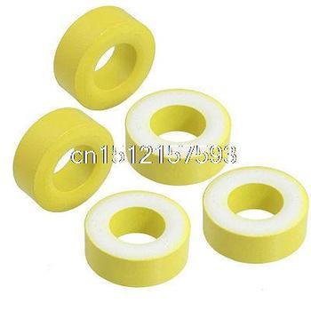5 uds 27mm x 14mm x 11mm Amarillo Blanco hierro núcleo Inductor de potencia anillo de ferrita