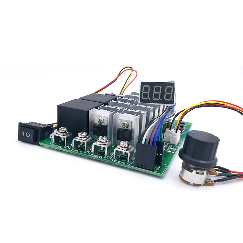 60A Digital display PWM speed controller module 10-55V 0~100% adjustable forward reversal DC motor MAX 100A 12V 24V 36V 48V dc10 55v max 60a pwm motor speed controller 0 100