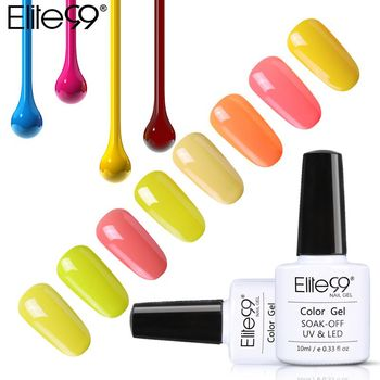 Elite99 Gelb Farbe Serie 10 ml Nagel Gel Polish UV Gel LED Lampe Maniküre Basis Top Coat Soak Off Semi -dauerhafte Nail art Gel