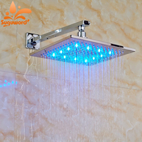 Factory Promotion Wall Mounted 8 Brass LED Light Shower Head with Shower Arm