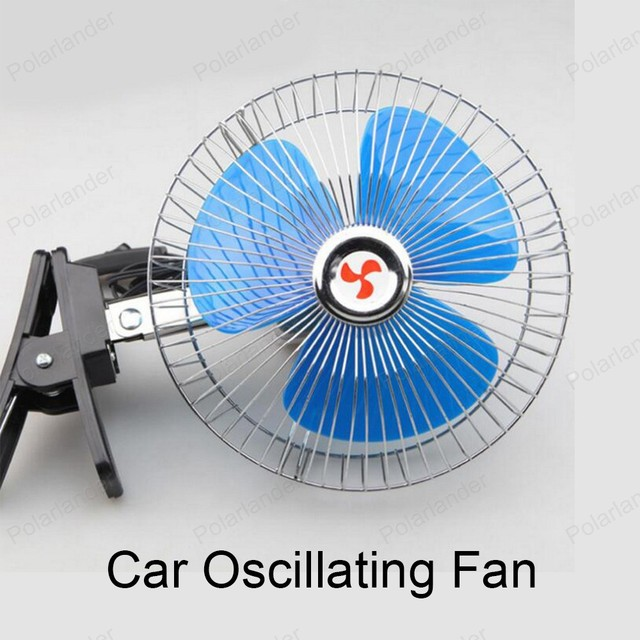 6 inch 12v 25w oscillating auto car fan mini electric cooling fan low noise portable vehicle