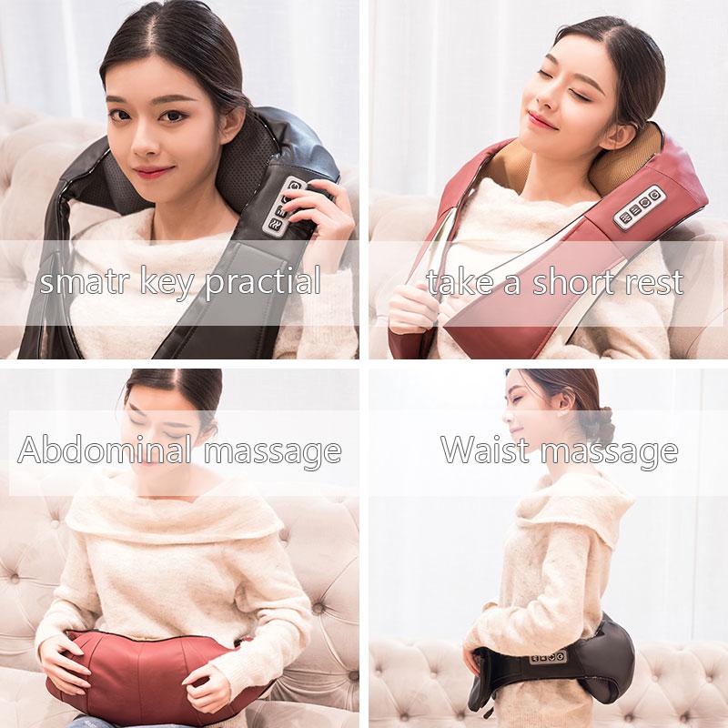 Image 3 - Heat Deep Kneading Infrared Massager U Shape Electrical Shiatsu Massage Back Neck Shoulder Body at Car/Home Infrared Massagem-in Massage & Relaxation from Beauty & Health