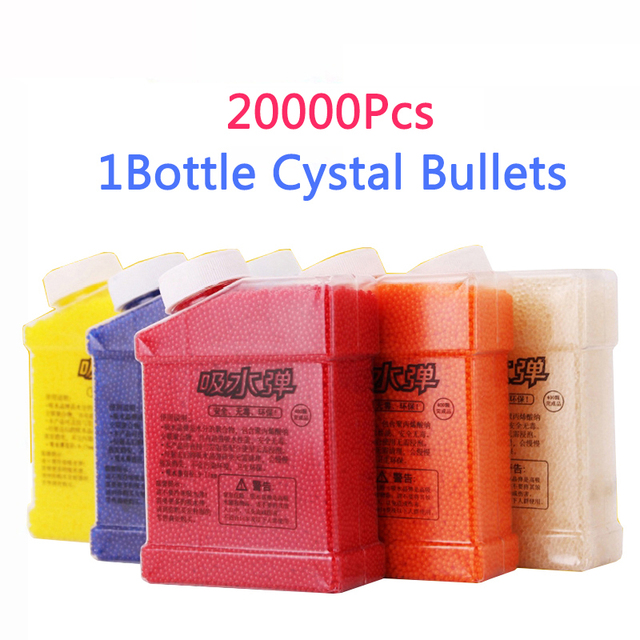 Tronzo 20000Pcs/Bottle Soft Crystal Bullet Water Paintball Gun Bullet Grow Water Beads Balls Water Gun Outdoor Toy Dropshipping