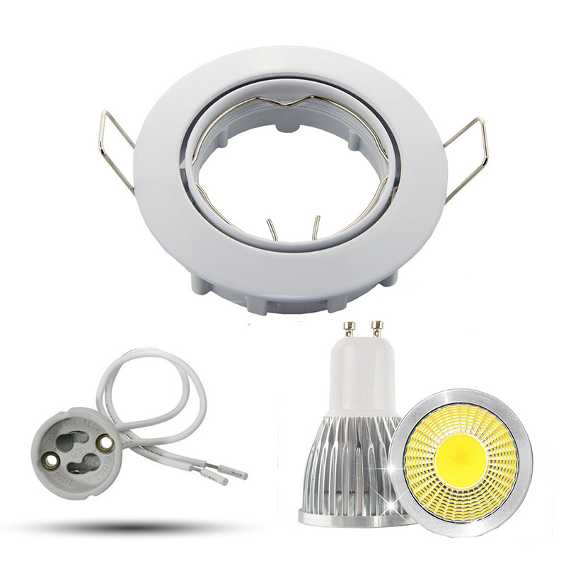 watch a144b 4b723 US $4.29 35% OFF Dimmable LED Downlight 5W 7W 9W Spot LED bulbs GU10 base  cob LED Spot Recessed down lights for living room 110v 220v fixture-in LED  ...