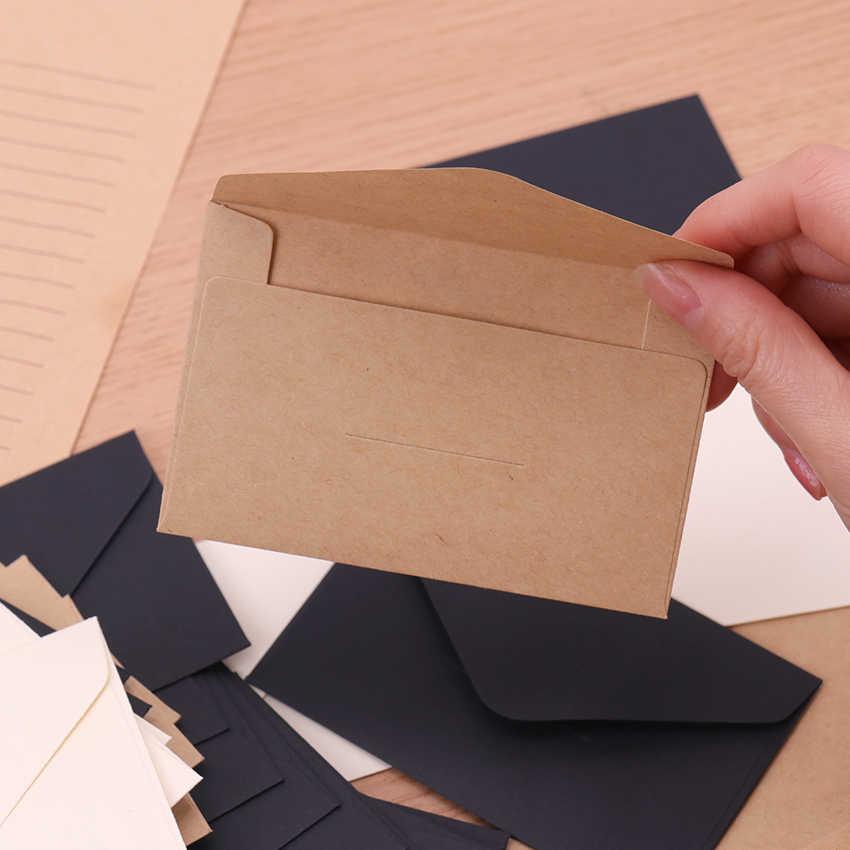 20PCSสีดำสีขาวกระดาษหัตถกรรมซองVintageสไตล์เปล่าขนาดเล็กสำหรับบัตรScrapbooking Love Letterของขวัญอุปกรณ์
