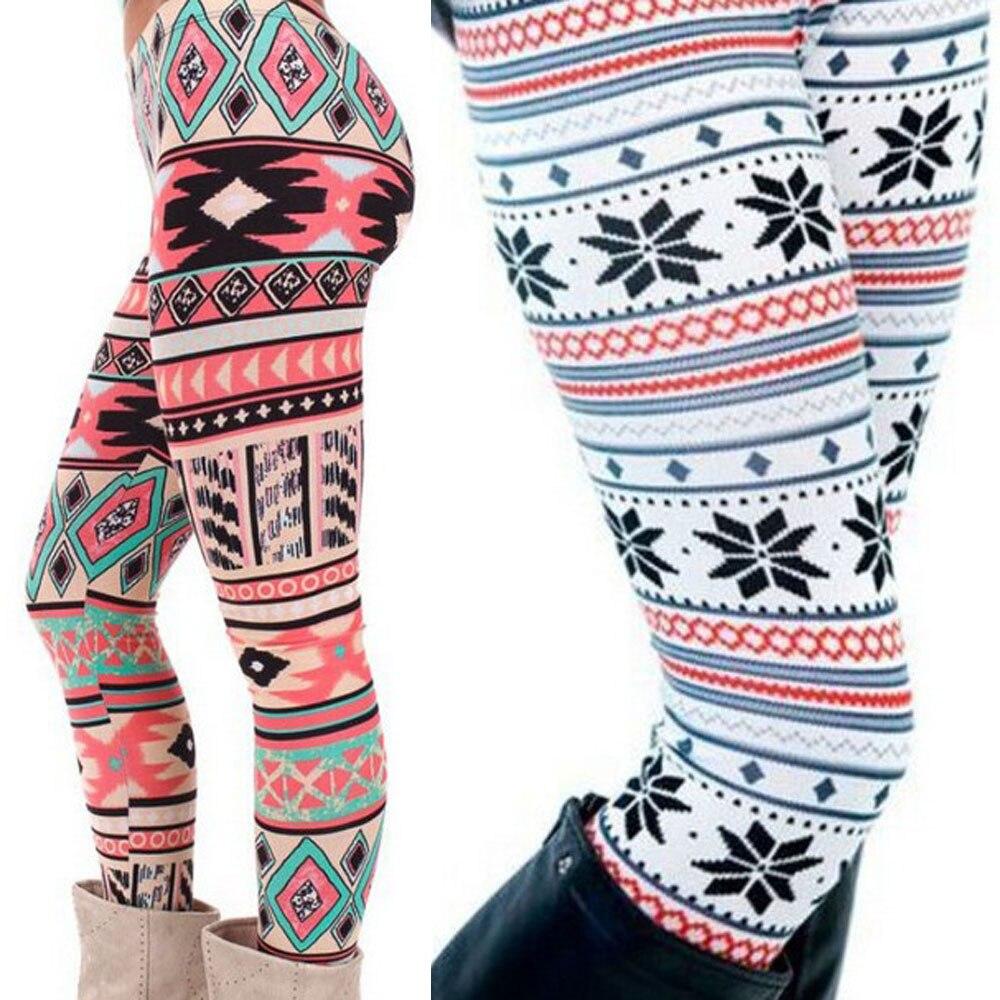 Kids Girls Christmas Leggings Snowman Tree Stretchy Full Ankle Length Jeggings