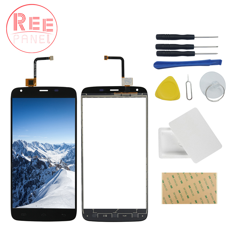 Mobile Phone For Doogee T6 / T6 Pro Front Class Touch Screen Digitizer Panel Assembly Lens Sensor Adhesive repair tool Gift