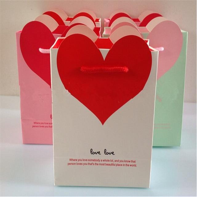 Aliexpress.com : Buy Heart shaped Gift Bags Wedding Gifts bag Pink ...