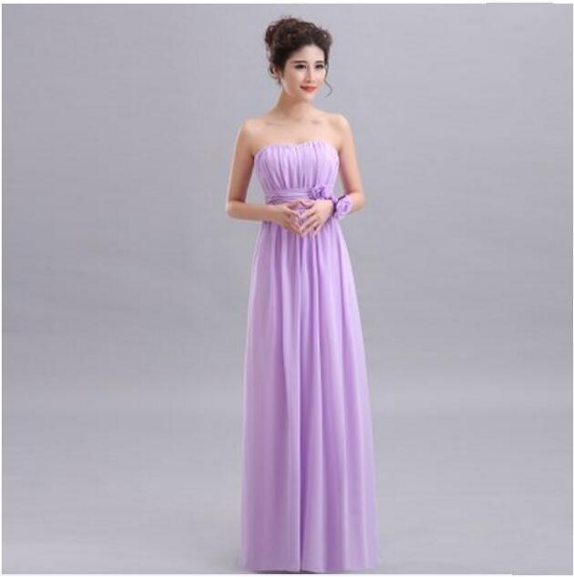fb27000ddd Beauty-Emily Purple Long Chiffon Blush Pink Bridesmaid Dresses 2019 A-Line  Vestido De Festa De Casamen Formal Party Prom Dresses