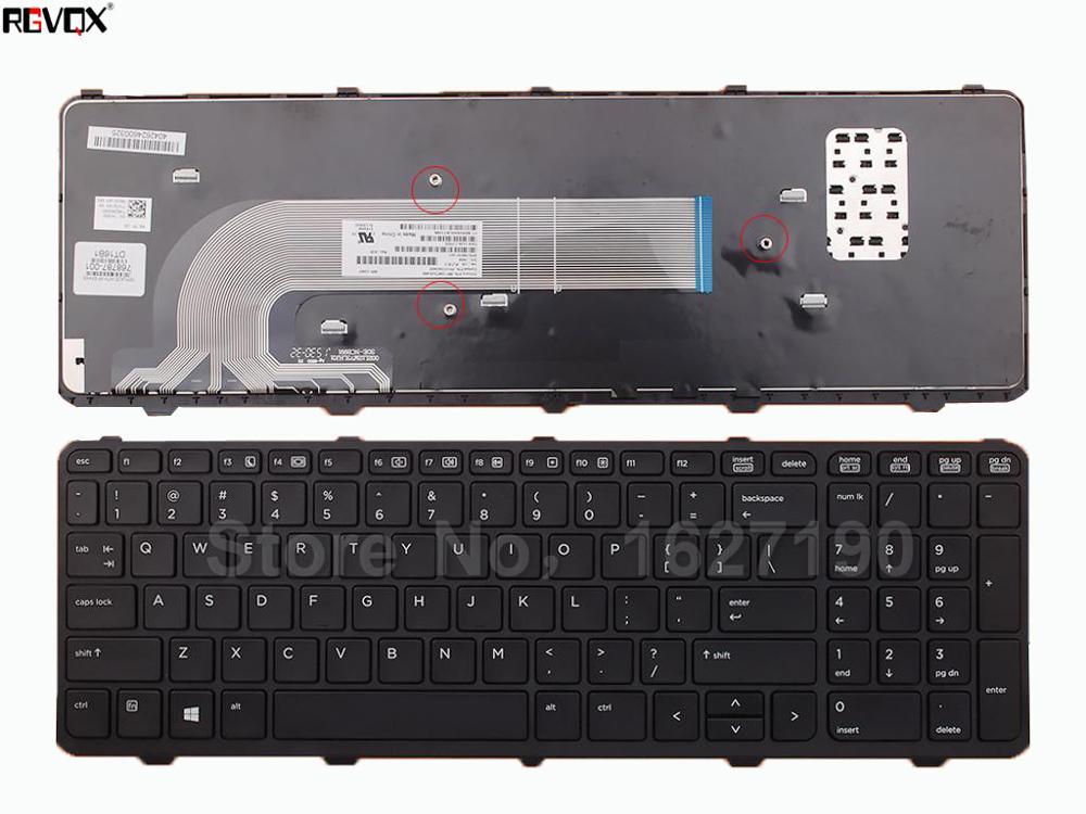 Novo Teclado Do Portátil DOS EUA Para O HP ProBook 450 G0 450 455 G1 G1 BLACK FRAME PRETO OEM Para Win8 PN: 536410-001
